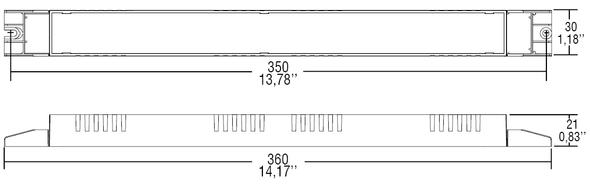 TCI DALI 70W 24V constant voltage driver - slim type - 1-10V dimmable(127960)