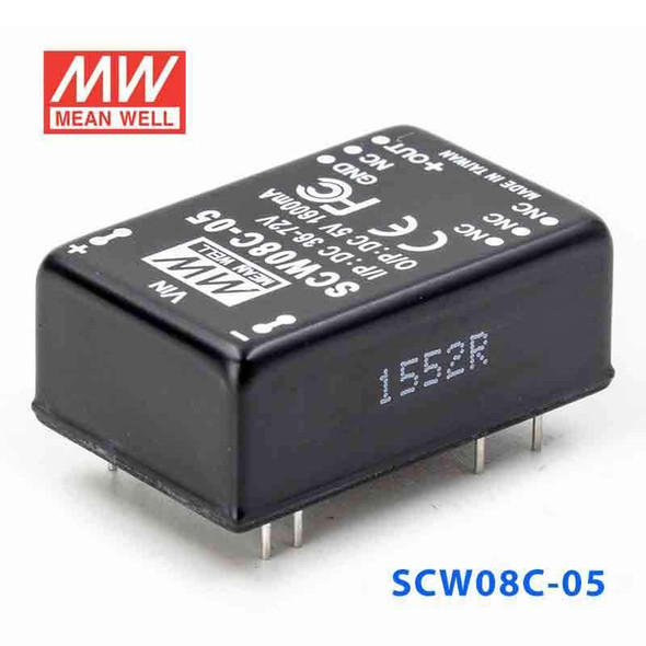 Meanwell SCW08C-05 DC-DC Converter - 8W 36~72V DC in 5V out
