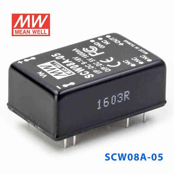 Meanwell SCW08A-05 DC-DC Converter - 8W 9~18V DC in 5V out