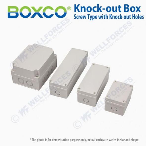 Boxco S-Series 80×180×70mm Plastic Enclosure, IP67, IK08, PC, Grey Cover, Screw Type