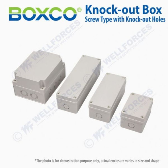 Boxco S-Series 80×250×85mm Plastic Enclosure, IP67, IK08, PC, Grey Cover, Screw Type