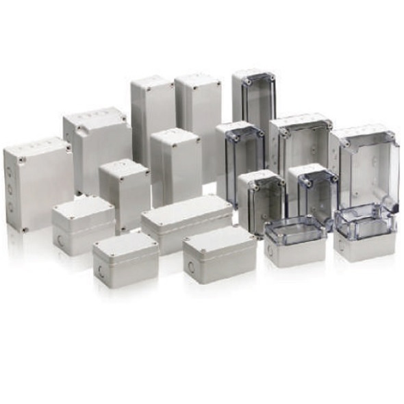 Boxco S-Series 125×175×75mm Plastic Enclosure, IP67, IK08, PC, Transparent Cover, Screw Type