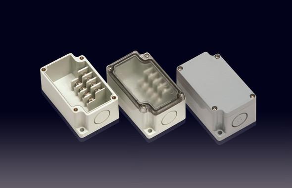 Boxco Terminal Box 4-pole 50x82x43mm, IP67, IK08, ABS, Grey Cover