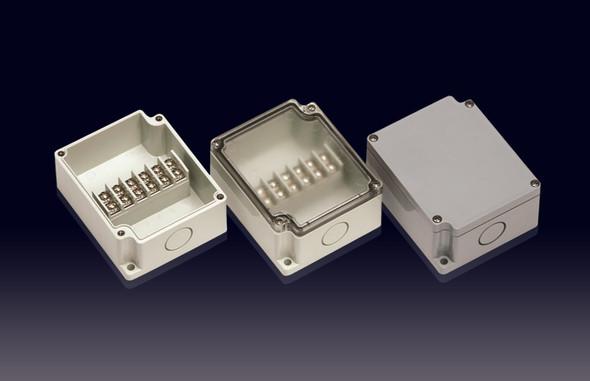 Boxco Terminal Box 6-pole 75x91x43mm, IP67, IK08, ABS, Grey Cover