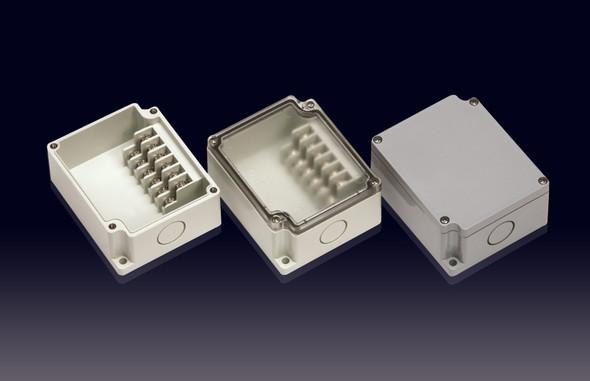 Boxco Terminal Box 6-pole 55x91x43mm, IP67, IK08, ABS, Grey Cover