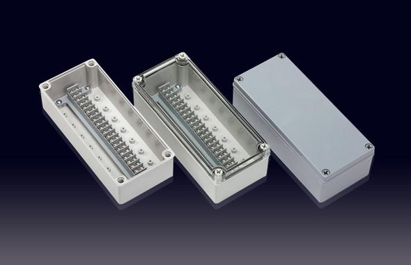 Boxco Terminal Box 20-pole 100x230x70mm, IP67, IK08, ABS, Transparent Cover