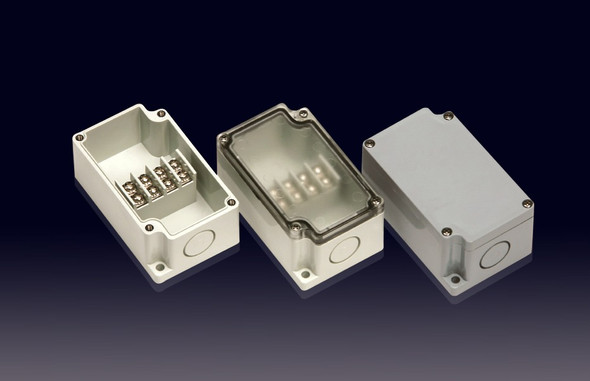 Boxco Terminal Box 4-pole 55x91x43mm, IP67, IK08, ABS, Grey Cover
