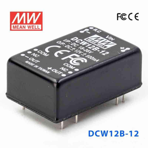 Meanwell DCW12B-12 DC-DC Converter - 12W - 18~36V in ±12V out