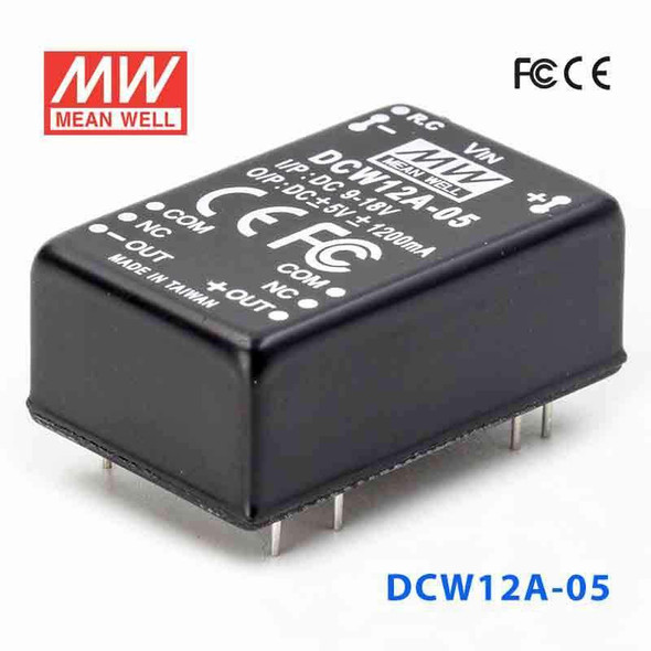 Meanwell DCW12A-05 DC-DC Converter - 12W - 9~18V in ±5V out