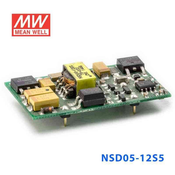 Meanwell NSD05-12S5 DC-DC Converter - 5W - 9.2~36V in 5V out