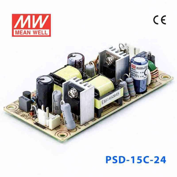 Meanwell PSD-15C-24 DC-DC Converter - 14.4W - 36~72V in 24V out