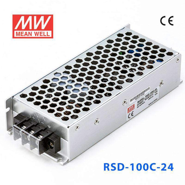Meanwell RSD-100C-24 DC-DC Converter - 100.8W - 33.6~62.4V in 24V out