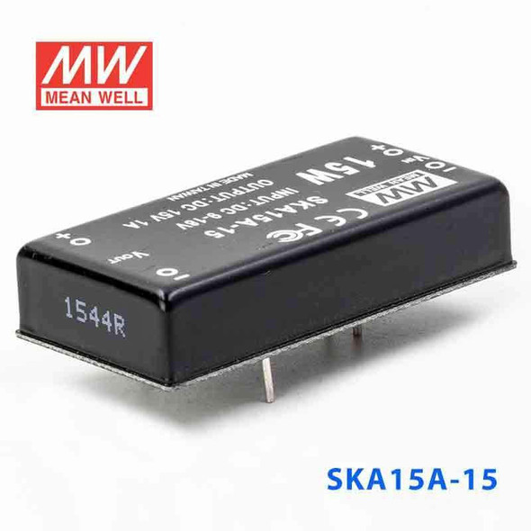Meanwell SKA15A-15 DC-DC Converter - 9.9W - 9~18V in 15V out