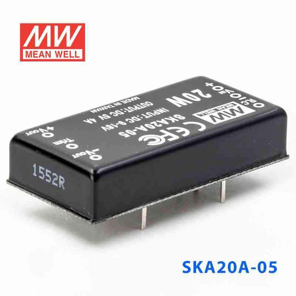 Meanwell SKA20A-05 DC-DC Converter - 20W - 9~18V in 5V out