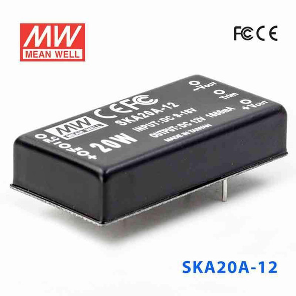 Meanwell SKA20A-12 DC-DC Converter - 20W - 9~18V in 12V out