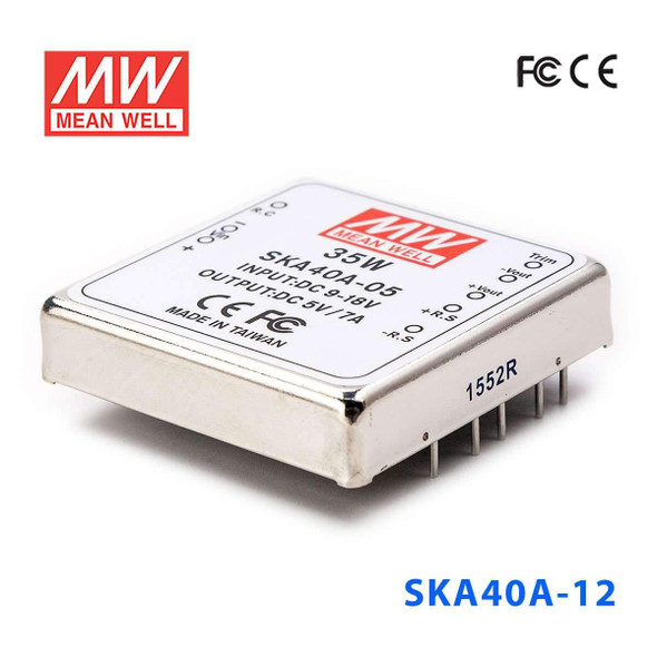 Meanwell SKA40A-12 DC-DC Converter - 35W - 9~18V in 12V out