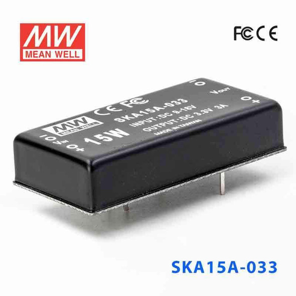 Meanwell SKA15A-033 DC-DC Converter - 9.9W - 9~18V in 3.3V out