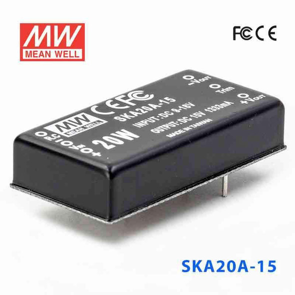 Meanwell SKA20A-15 DC-DC Converter - 20W - 9~18V in 15V out