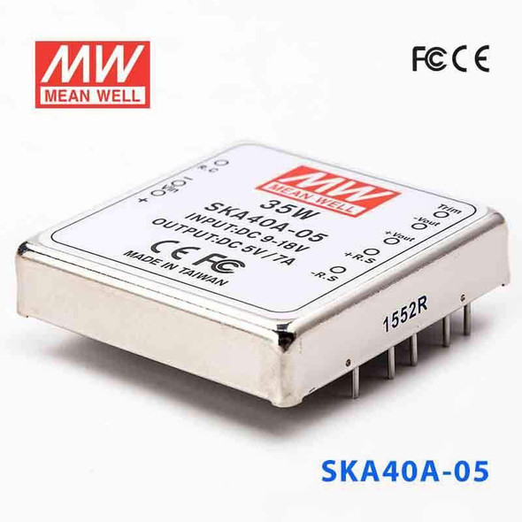 Meanwell SKA40A-05 DC-DC Converter - 35W - 9~18V in 5V out
