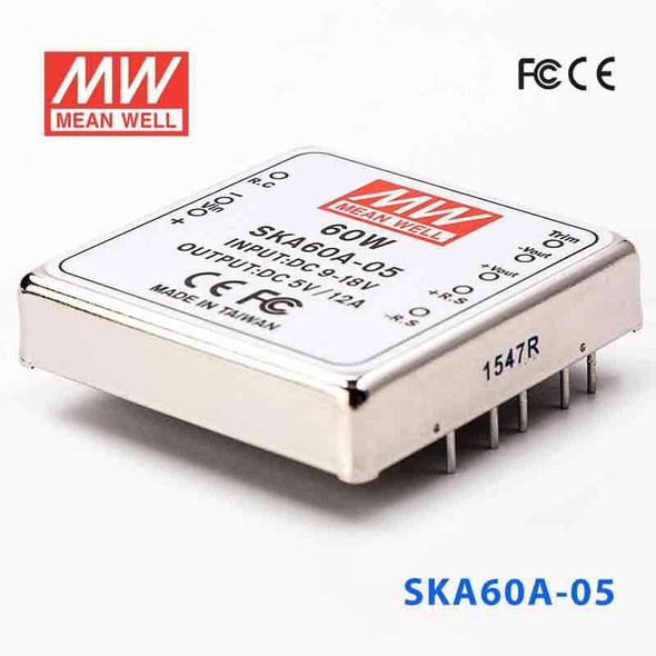 Meanwell SKA60A-05 DC-DC Converter - 60W - 9~18V in 5V out