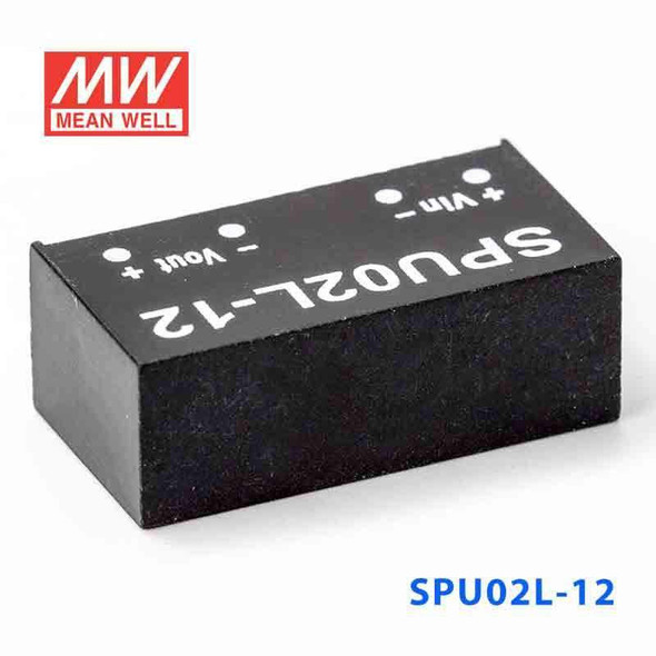 Meanwell SPU02L-12 DC-DC Converter - 2W - 4.5~5.5V in 12V out