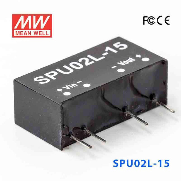 Meanwell SPU02L-15 DC-DC Converter - 2W - 4.5~5.5V in 15V out