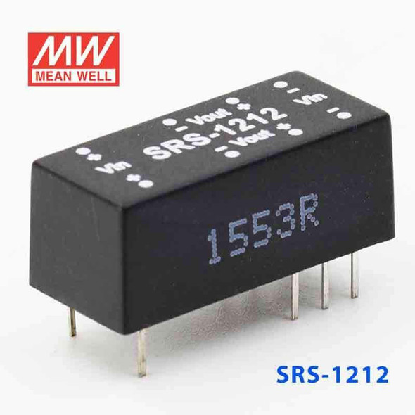 Meanwell SRS-1212 DC-DC Converter - 0.5W - 10.8~13.2V in 12V out
