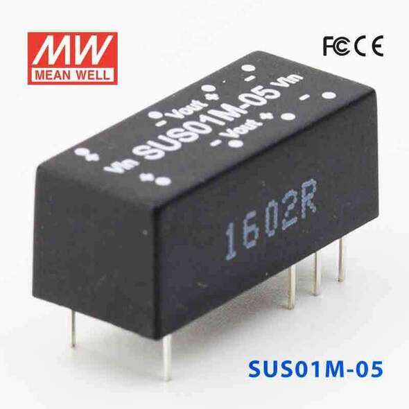 Meanwell SUS01M-05 DC-DC Converter - 1W - 10.8~13.2V in 5V out