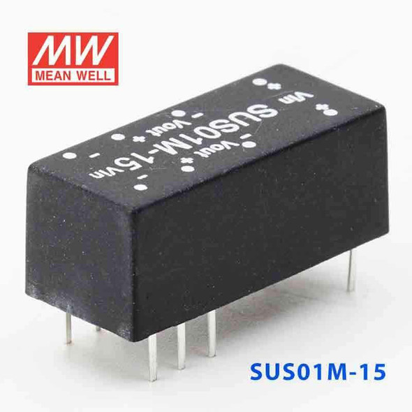 Meanwell SUS01M-15 DC-DC Converter - 1W - 10.8~13.2V in 15V out