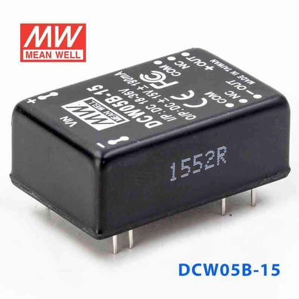Meanwell DCW05B-15 DC-DC Converter - 5W - 18~36V in ±15V out