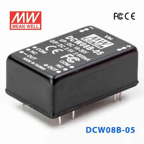 Meanwell DCW08B-05 DC-DC Converter - 8W - 18~36V in ±5V out
