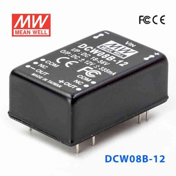 Meanwell DCW08B-12 DC-DC Converter - 8W - 18~36V in ±12V out
