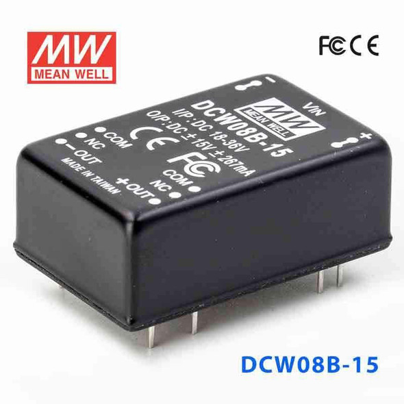 Meanwell DCW08B-15 DC-DC Converter - 8W - 18~36V in ±15V out