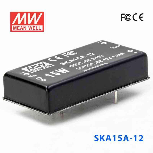 Meanwell SKA15A-12 DC-DC Converter - 9.9W - 9~18V in 12V out