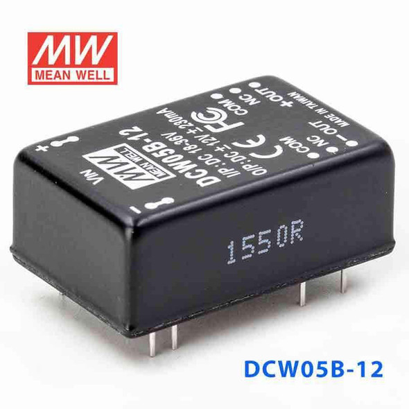 Meanwell DCW05B-12 DC-DC Converter - 5W - 18~36V in ±12V out