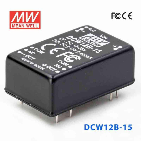 Meanwell DCW12B-15 DC-DC Converter - 12W - 18~36V in ±15V out