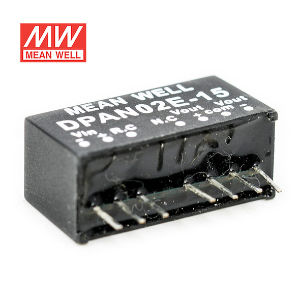 Meanwell DPAN02E-15 DC-DC Converter - 2W - 4.5~9V in ±15V out