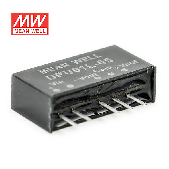 Meanwell DPU01L-05 DC-DC Converter - 1W - 4.4~5.5V in ±5V out