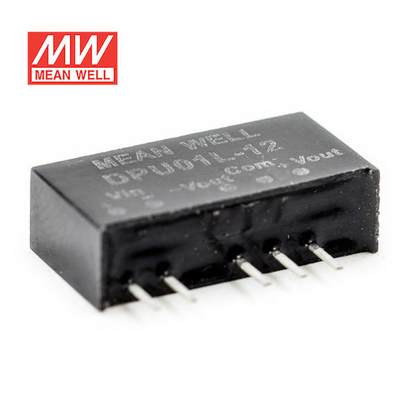 Meanwell DPU01L-12 DC-DC Converter - 1W - 4.4~5.5V in ±12V out