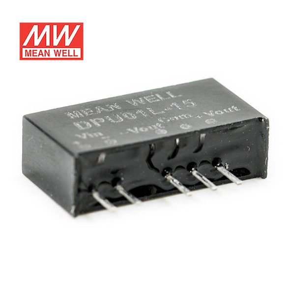 Meanwell DPU01L-15 DC-DC Converter - 1W - 4.4~5.5V in ±15V out