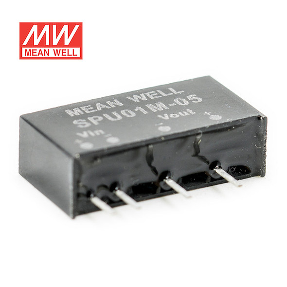 Meanwell SPU01M-05 DC-DC Converter - 1W - 10.8~13.2V in 5V out