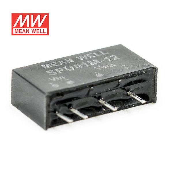 Meanwell SPU01M-12 DC-DC Converter - 1W - 10.8~13.2V in 12V out