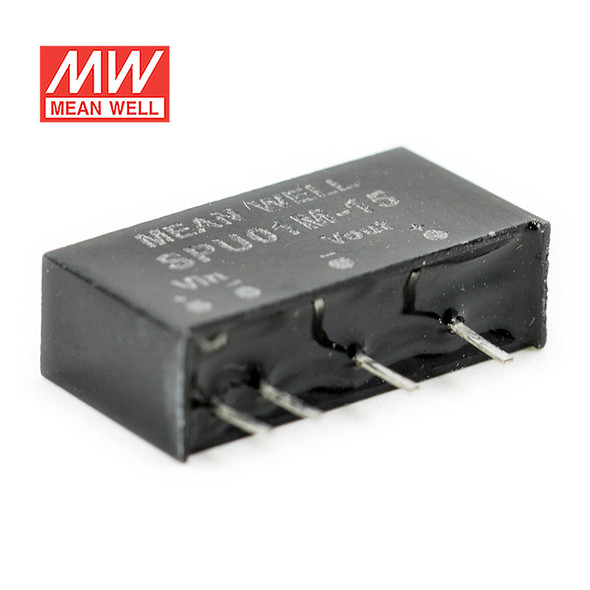 Meanwell SPU01M-15 DC-DC Converter - 1W - 10.8~13.2V in 15V out
