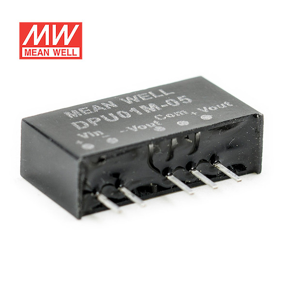 Meanwell DPU01M-05 DC-DC Converter - 1W - 10.8~13.2V in ±5V out
