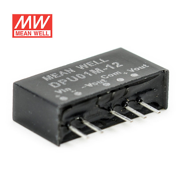 Meanwell DPU01M-12 DC-DC Converter - 1W - 10.8~13.2V in ±12V out