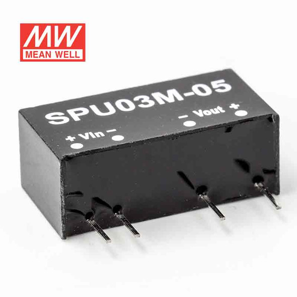 Meanwell SPU03M-05 DC-DC Converter - 3W - 4.5~5.5V in 5V out