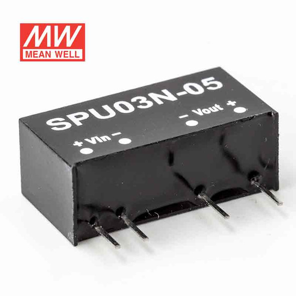 Meanwell SPU03N-05 DC-DC Converter - 3W - 4.5~5.5V in 12V out