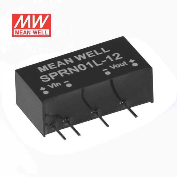 Meanwell SPRN01L-12 DC-DC Converter - 1W - 4.75~5.5V in 12V out