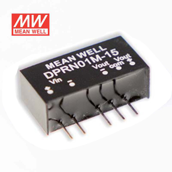 Meanwell DPRN01M-15 DC-DC Converter - 1W - 11.4~13.2V in ±15V out