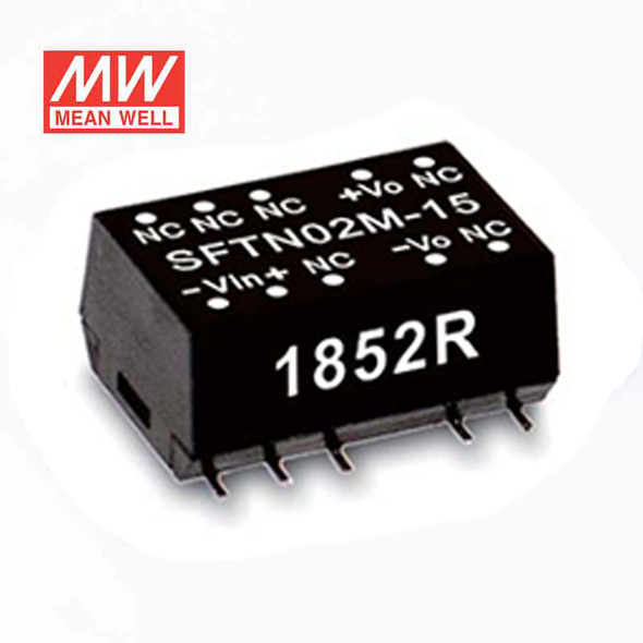 Meanwell SFTN02L-15 DC-DC Converter - 2W - 4.5~5.5V in 15V out